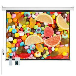 "100"" 4:3 HD Electric Projector Screen Auto Remote Control Ho"