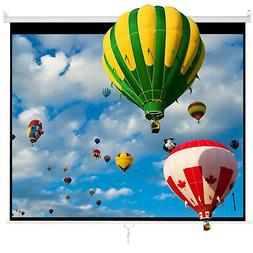 "Cloud Mountain 100"" 4:3 HD Manual Pull Down Projector Screen"