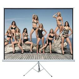 "120"" 4:3 Projection Projector Screen Home HD Movie Manual Pu"