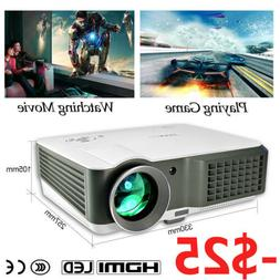 HD LED Video Projector Home Theater 1080p HDMI USB Movie Par