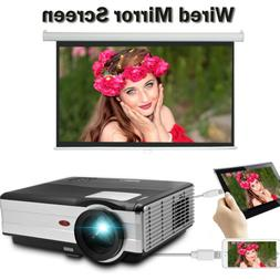 EUG 4500lm Home Projector Video Mirror Screen for Smartphone