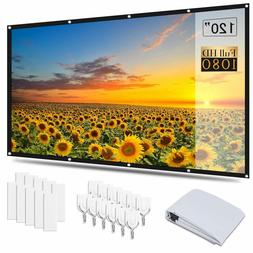 4K 60-120'' Projector Screen 3D Projection Home Cinema Theat