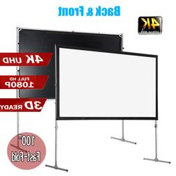 """4K HD Fast-Fold Projector Screen 100""""inch 16:9 with Stand Ho"""