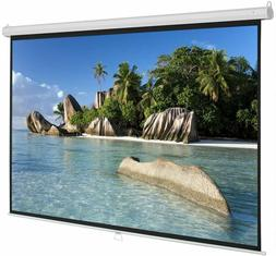 """5 Core PULL DOWN PROJECTOR Projection Screen 84"""" INCH 8K 3D"""