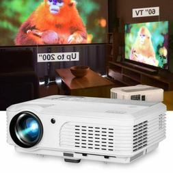 EUG 5000lm LED Projector Big Screen Gaming Home Theater HDMI