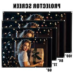"""60-100"""" Movie Projector Screen 4:3 Projection HD Home Theate"""