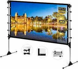 """60""""-150"""" Projector Screen HD 16:9 Foldable Theater In/Outdoo"""