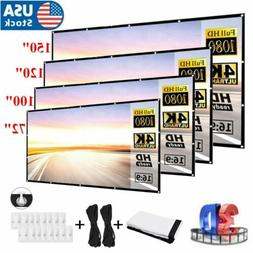 """60""""-150"""" Foldable Projector Screen 16:9 HD Outdoor Home Cine"""