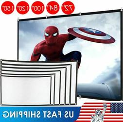 "60""-150"" Inch Projector Screen 16:9 HD Foldable Anti-Crease"