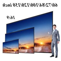 60 72 84 100 120 150 inch Foldable 16:9 <font><b>Projector</