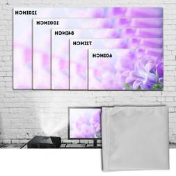 "60""/72""/84""/100""/120"" Projector Projection Screen 16:9 Home"