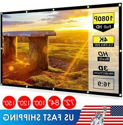 """60'' to 120"""" Inch Projector Projection Screen 16:9 HD Anti-C"""