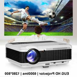 6000lm Multifunctional LED Projector Home Theater Video HDMI