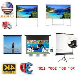 70''-120'' Projector Screen 3D 4K Electric Motorized Screen