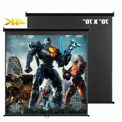 70'' X 70'' Manual Pull Down Projection Projector Screen 4K
