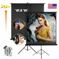 """70""""X70"""" Portable Pull Up Projector Screen 4K Projection with"""