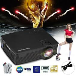 7000Lumen LED 1080P HD 3D Projector/100'' 120'' Screen Stand