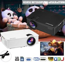 7000Lumen HD 1080P LED Video Home Projector 3D for Iphone An