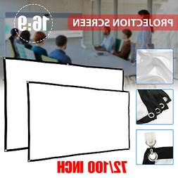 """72""""/100"""" 16:9 Manual Pull Down Projector Projection Screen H"""