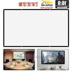 """72-120"""" 16:9 Portable Screen HD Projector Projection Screen"""