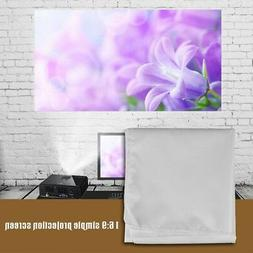 """72'' 84'' 100'' 120"""" 150"""" 16:9 Foldable Projector Screen The"""