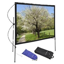 "77"" 16:9 Outdoor Indoor Projector Screen with Stand Foldable"
