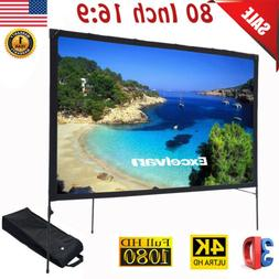 """80"""" 16:9 Folding Outdoor Front Projection Projector Screen H"""