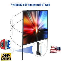 "80"" 16:9 HD Portable Home Outdoor Projector Screen 4K 1080P"