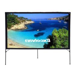 80Inch 16:9 Foldable Projector Front Movie Screen With Setup
