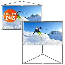 """80-Inch Stands 2-in-1 Portable Projector Screen Outdoor """" In"""