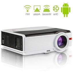 CAIWEI 8000lumen Android Projector Home Cinema Airplay Wirel