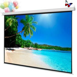 84''/100'' Manual Pull Down Self-locking Projector Projectio