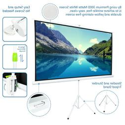 "84"" 100"" Portable Projector Screen Tripod Projector Screen P"