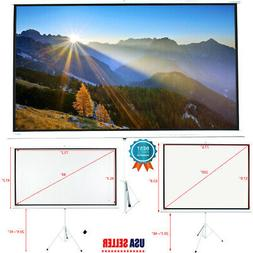 """84"""" 16:9 100"""" 4:3 HD Portable Pull Up Projector Screen Home"""