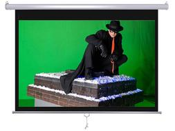 "Maxstar 84"" 4:3 e-z pull down Manual Projector Screen Wall/C"