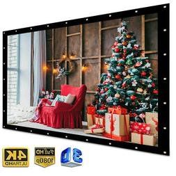 84'' Electric Motorized HD Projector Projection Screen 4:3 H
