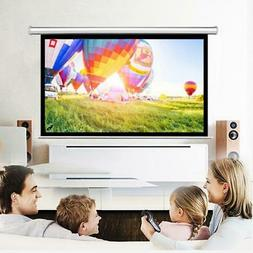"Leadzm 84"" 16:9 Projector Screen Manual Pull Down Ceiling /"