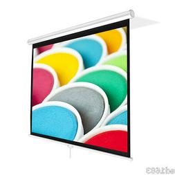 """72"""" Home Office Matte White Projector Screen 42""""x 56"""" Ceilin"""