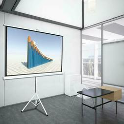 84 Inch 16:9 HD Projector Screen Tripod Stand Matte Pull Up