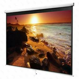 84 Inch 16:9 Manual Pull Down Projector Projection Screen Ho