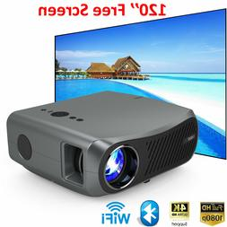 8500Lumens Android Wifi Projector Blue-tooh 4.2 Wireless App