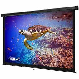 VonHaus 90-Inch Projector Screen for Wall or Ceiling Mountin