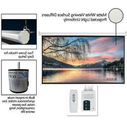 """92"""" 16:9 HD Auto Motorized Projector Screen Projection 80""""x4"""