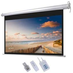 """92"""" 16:9 Motorized Projector Screen Projection 80"""" x 45"""" wit"""