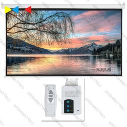 "92"" Electric Projector Screen Motorized 4K Remote Control 16"