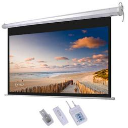 """Leadzm 92"""" View Area Motorized Projector Screen Remote Contr"""