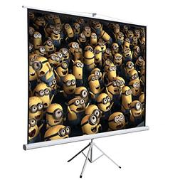"""ARKSEN 100"""" Tripod Stand Portable Projection Screen Square P"""