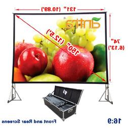 Antra PSD-150A 16:9 Fast Fold Projector Projection Screen wi