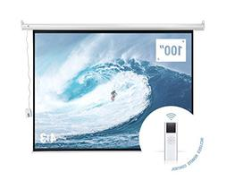 "Homegear 100"" HD Motorized 4:3 Projector Screen W/Remote C"