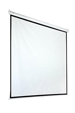 "Homegear 118"" 1:1 Manual Pull Down Projector Screen"